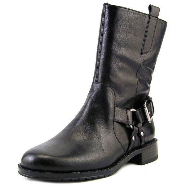 Aerosoles Outrider Women Round Toe Leather Black Mid Calf Boot