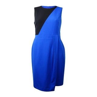 Nine West Women's Sleeveless Colorblock Sheath Dress