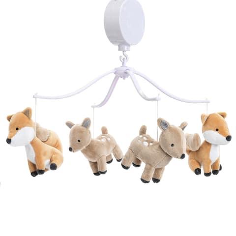 Bedtime Originals Deer Park Musical Baby Crib Mobile Soother Toy - Woodland