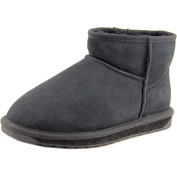 Emu Australia Stinger Micro Women Round Toe Suede Black Winter Boot
