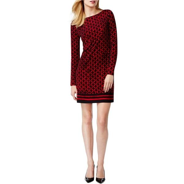 MICHAEL Michael Kors Womens Casual Dress Matte Jersey Printed