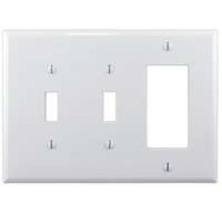 Shop Cooper Wiring PJ226W 2 Toggle 1 Rocker Wallplate White