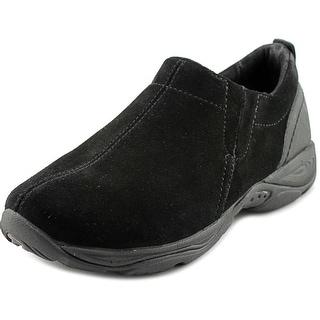 Easy Spirit Eveline Women W Round Toe Suede Black Loafer