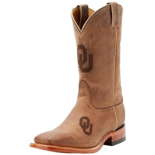 Nocona Boots Mens Oklahoma Leather Branded Logo Cowboy, Western Boots