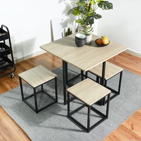 TiramisuBest Dining room 5pcs modern simple plastic dining Set