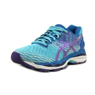 Asics Gel-Nimbus 18 Women Round Toe Synthetic Blue Running Shoe