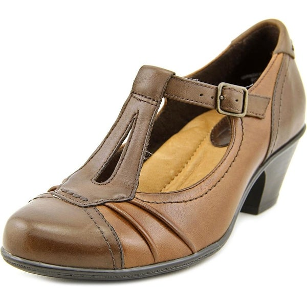 Earth Wanderlust  Women  Round Toe Leather Brown Mary Janes