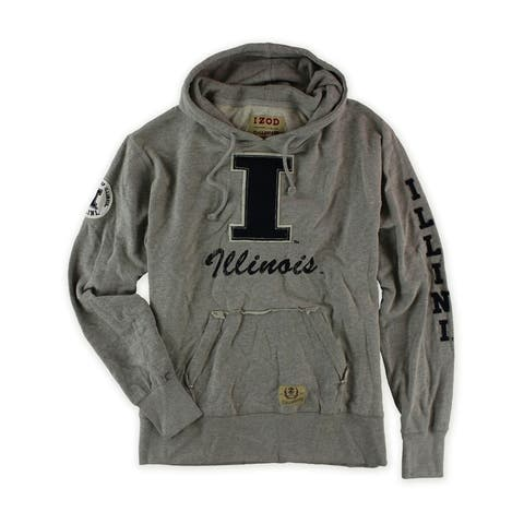 Izod Mens Varsity Letter I Hooded Hoodie Sweatshirt