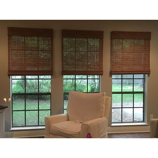 Arlo Blinds Tuscan Bamboo Roman Shade with 98 Inch Height