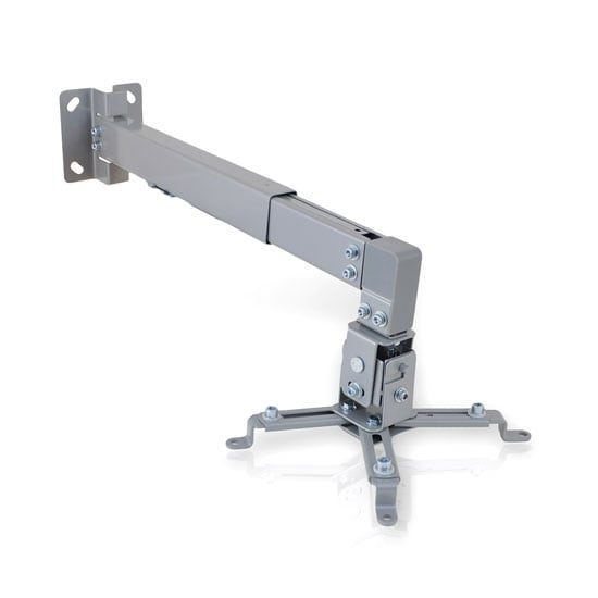 Universal Projector Holder Wall Mount with Telescoping Length, Angle and Tilt Adjustment