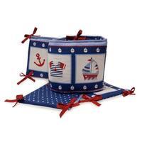 Bedtime Originals Sail Away Blue/White/Red Nautical 4-Piece Baby Crib Bumper
