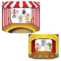 Club Pack of 6 Double Sided Puppet Show and Theater Stand-Up Photo Prop Decorations 3' - Multi