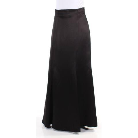 RALPH LAUREN Womens Black High Waist Full-Length A-Line Evening Skirt Size: 2