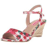 Betsey Johnson Womens Athena Open Toe Casual Platform Sandals