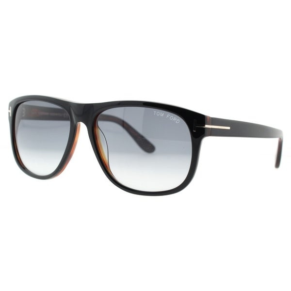 4e9091319289 Shop Tom Ford Olivier TF 236 05B Black Havana Gray Gradient Men s ...