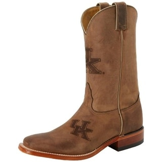 Nocona Boots Mens Kentucky Leather Square Toe Cowboy, Western Boots - 15 extra wide