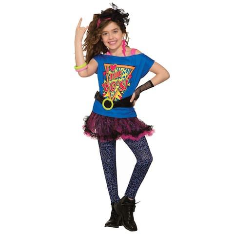Forum Novelties Totally 80's Child Costume (Medium) - Blue/Pink - Medium