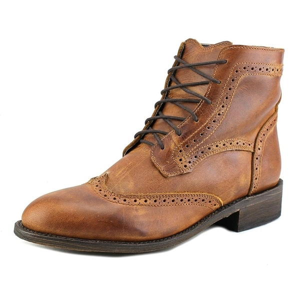 Independent Boot Company Sanderson II Men Wingtip Toe Leather Brown Boot