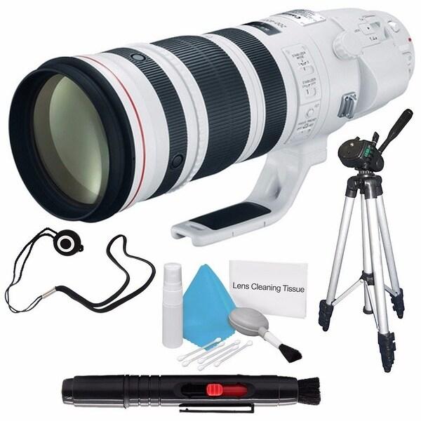 Canon EF 200-400mm f/4L IS USM Lens (International Model) + Lens Cap Keeper + Full Size Tripod Bundle