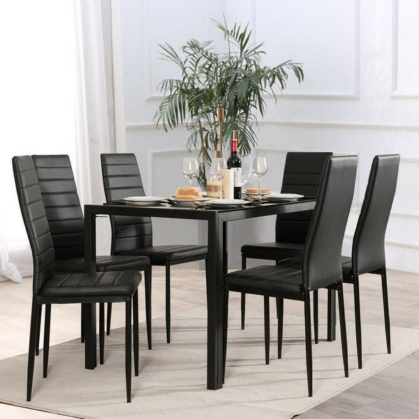 Gymax Set Of 6 Dining Side Chair