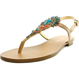 Ivanka Trump Womens Faron Leather Split Toe Casual T-Strap Sandals