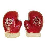 """Club Pack of 192 Red Mitten Floating Christmas Party Candles 3.25"""" - multi"""