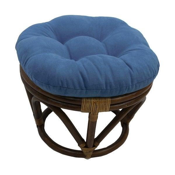 International Caravan Bali Papasan Footstool with Microsuede Cushion. Opens flyout.