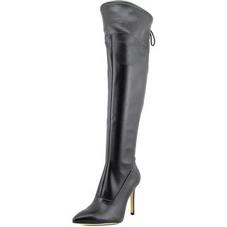 Guess Valerine 2 Women Pointed Toe Synthetic Black Over the Knee Boot
