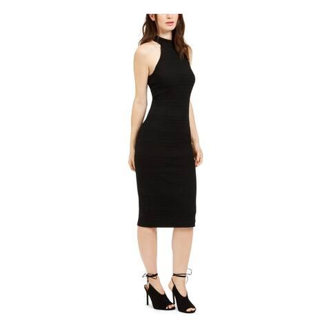 TRINA TURK Black Sleeveless Knee Length Body Con Dress Size 10