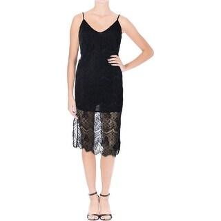 Lush Womens Lace Adjustable Strap Slip Dress