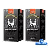 Melitta 75411 Parisian Vanilla 18 Counts (2-Pack) Parisian Vanilla Coffee Pods