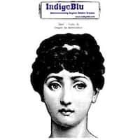 """Jane - Indigoblu Cling Mounted Stamp 5""""X4"""""""