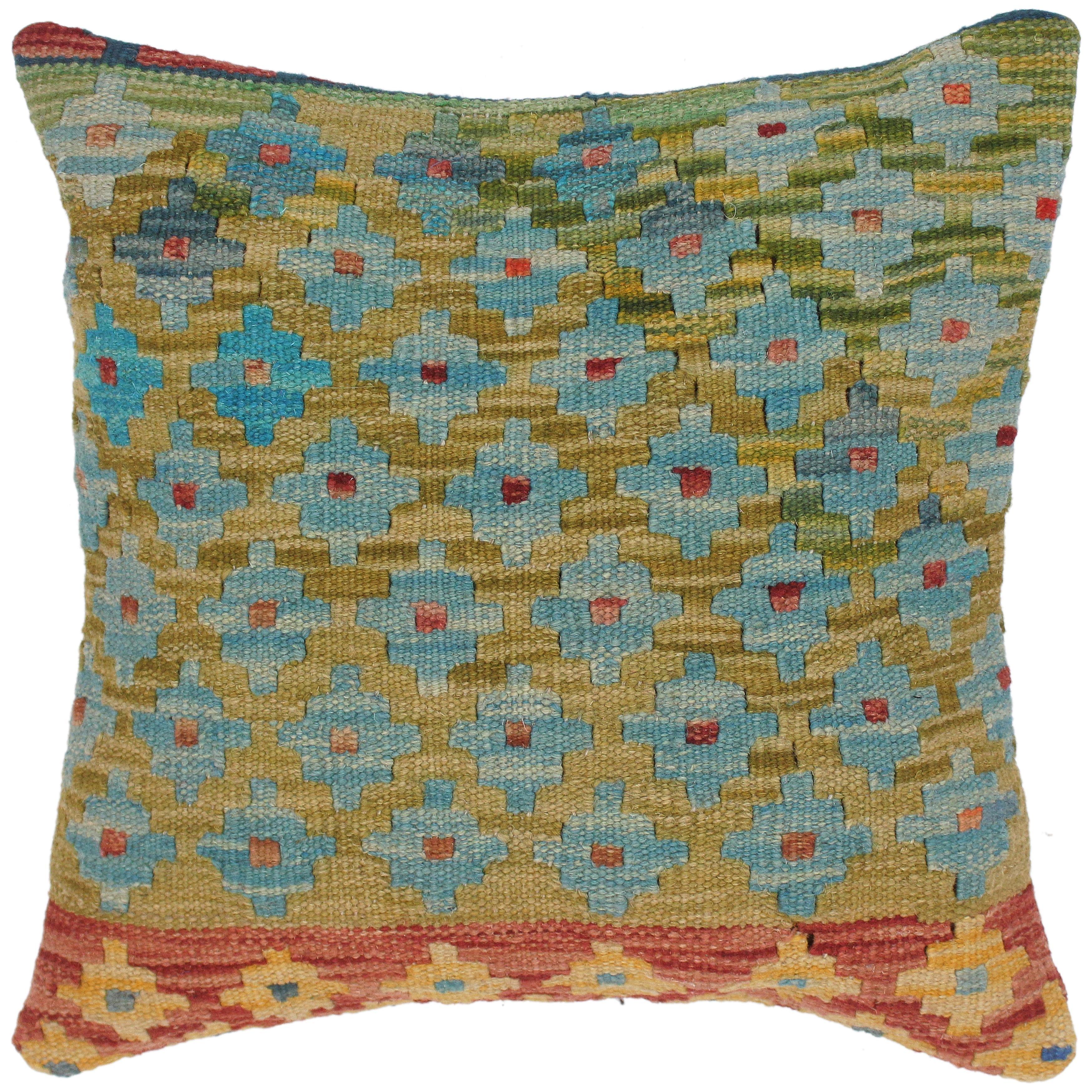 Modern Lizabeth Hand Woven Turkish Kilim Pillow 18 In X 18 In On Sale Overstock 32517350