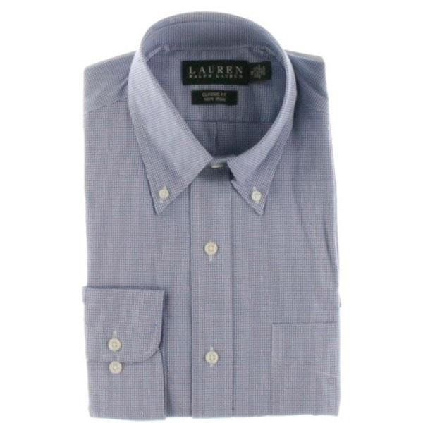 Lauren Ralph Lauren Mens Dress Shirt Classic Fit Micro Check