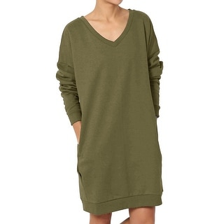 Link to Haute Edition Women's Oversized Pullover Sweatshirt Dress Similar Items in Dresses