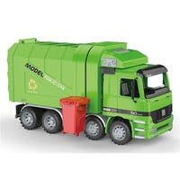 Friction Powered Recycling Garbage Truck with Side Loading & Back