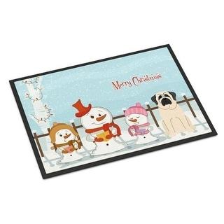 Carolines Treasures BB2348JMAT Merry Christmas Carolers Mastiff White Indoor or Outdoor Mat 24 x 0.25 x 36 in.