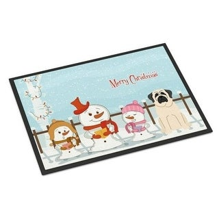 Carolines Treasures BB2348MAT Merry Christmas Carolers Mastiff White Indoor or Outdoor Mat 18 x 0.25 x 27 in.