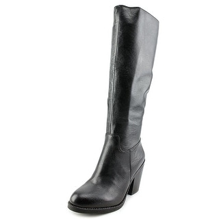 Nine West Brynn Round Toe Leather Knee High Boot