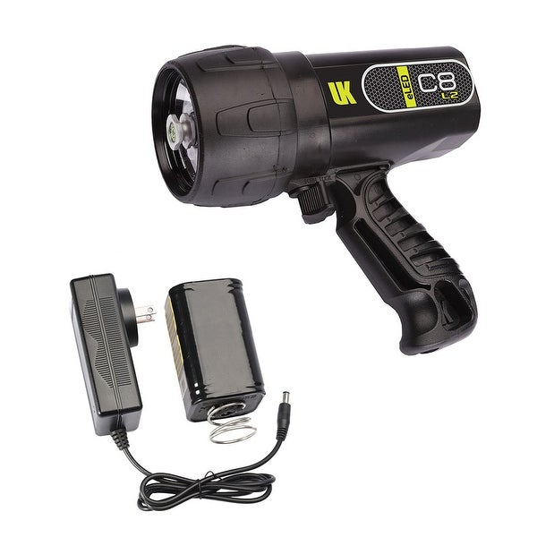 UK C8 eLED (L2) Rechargeable w/ NiMH Battery/Charger, Box Dive Light Black DS