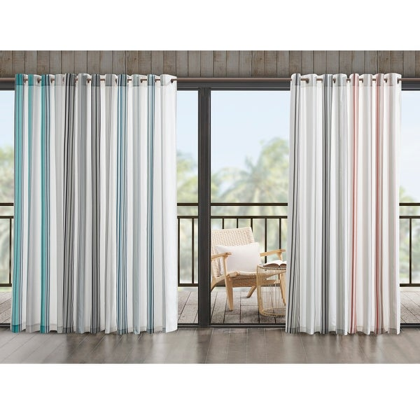 Madison Park Bolinas Printed Stripe 3M Scotchgard Outdoor Panel. Opens flyout.