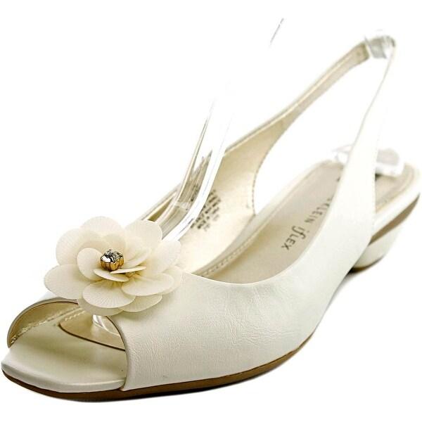 Anne Klein Lesta Women  Open-Toe Synthetic White Slingback Sandal