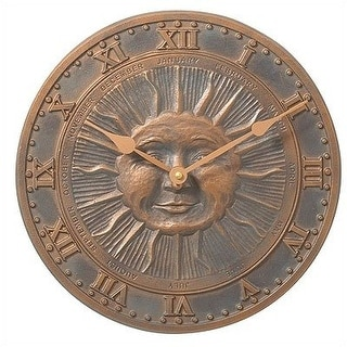 Whitehall Products Sunface Clock (French Bronze) - Bronze
