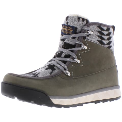 Pendleton Women's Torngat Trail Waterproof Leather Insulated Hiking Trail Boots - Gray/Spider Rock