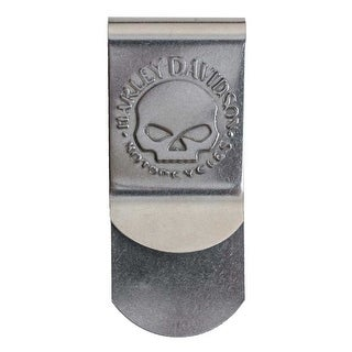 "Harley-Davidson Men's Willie G Skull Metal Money Clip, Silver CORESM95-NICKEL - 1.5"" x 3"""