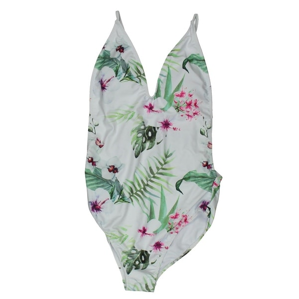 0ec590f492161 Zeraca Womens Floral Print Monokini One-Piece Swimsuit - S - Free Shipping  On Orders Over  45 - Overstock - 25904651