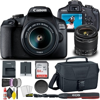Link to Canon EOS 2000D / Rebel T7 DSLR Camera with 18-55mm Lens  + Creative Similar Items in Digital Cameras