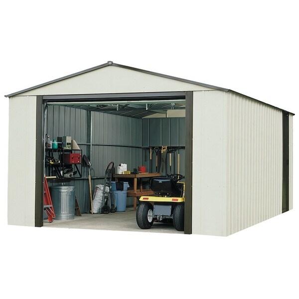 Arrow murrayhill 12 39 wide x 10 39 long vinyl coated steel for 12 x 12 roll up garage door