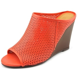 Kenneth Cole Reaction Edge Fun Women Open Toe Leather Wedge Heel