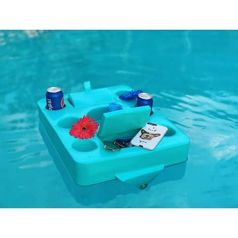 Vos Floating Refreshments Holding Tray with Storage for Snacks, Ultra Buoyant Water Floats for Pools Sandbars Parties